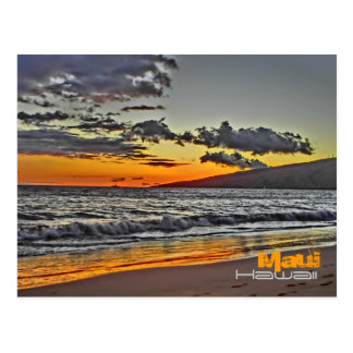 Maui Hawaii scenic beach postcard