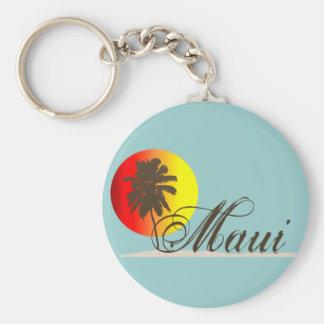 Maui Hawaii Souvenir Basic Round Button Keychain