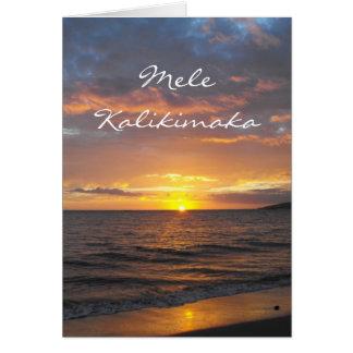 Maui Hawaii Sunset, Mele Kalikimaka, Christmas Cards