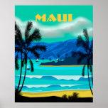 Maui Hawaii Travel Poster