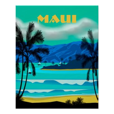 AutumnRoseMDS Maui Hawaii Travel Poster
