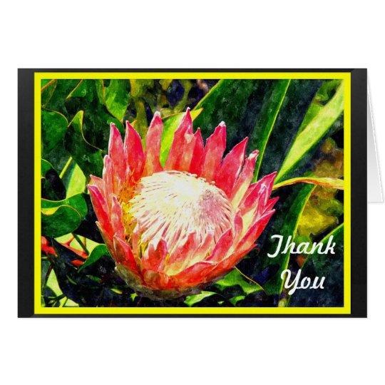 Maui Hawaii Tropical King Protea Flower, Thank You Card