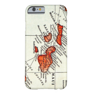 Maui Hawaiian Islands Molokai Vintage Map Barely There iPhone 6 Case