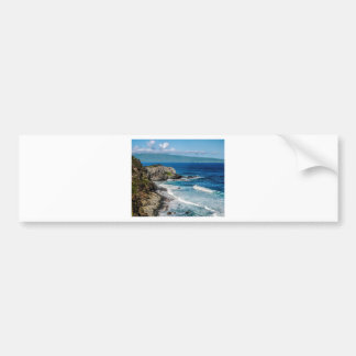 Maui Hi Beach Coastline 2014 Bumper Sticker