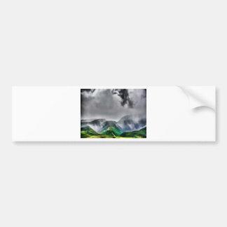 Maui Hi Beach Stormy Mountain 2014 Car Bumper Sticker
