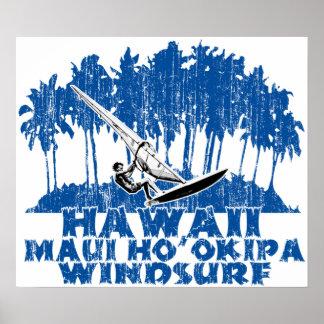 Maui Ho'okipa windsurfing Poster