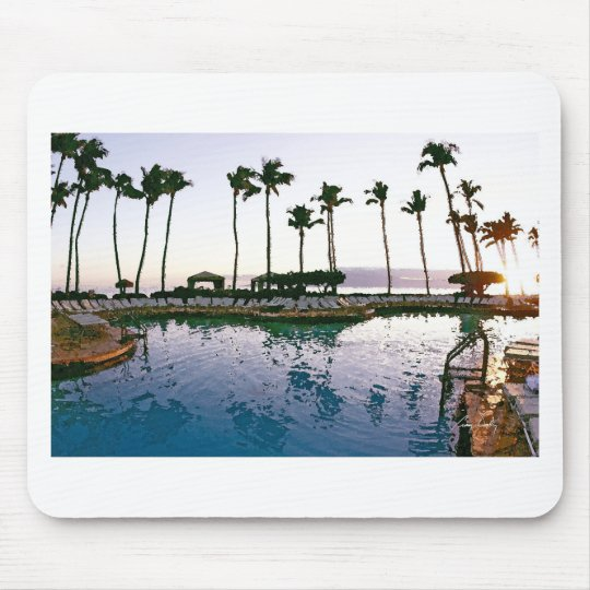 Maui Hyatt Pool Mouse Pad