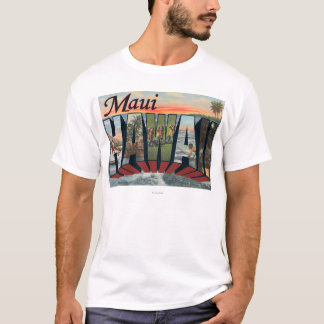 Maui, letra ScenesMaui, HI de HawaiiLarge Playera