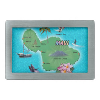 Maui Map Belt Buckle