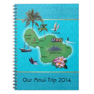 Maui Map Notebook