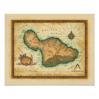 Maui Map Posters