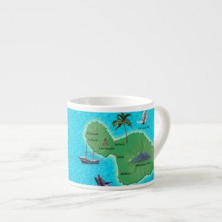 Maui Map 6 Oz Ceramic Espresso Cup