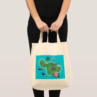 Maui Map Tote Bag