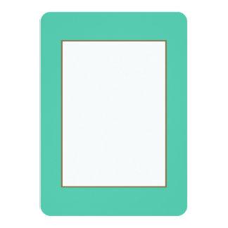 Maui Mint Green Seafoam 4.5x6.25 Paper Invitation Card