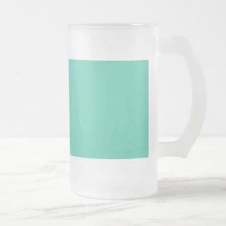 Maui Mint Green Seafoam 16 Oz Frosted Glass Beer Mug
