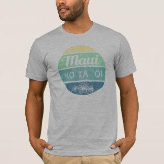 Maui No Ka Oi Vintage Typography T-Shirt