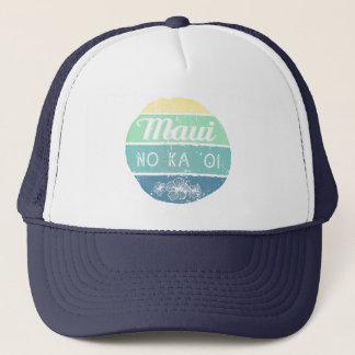Maui No Ka Oi Vintage Typography Trucker Hat