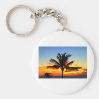 Maui Palm Tree Sunset1.jpg Keychain