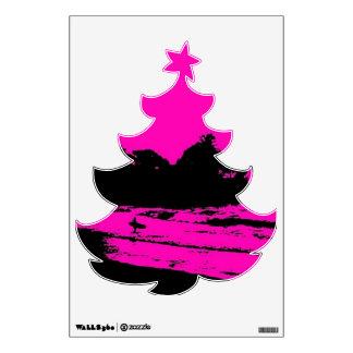 MAUI PINK MORNING XMAS TREE WALL DECAL