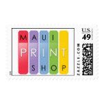 Maui Print Shop postage stamps