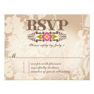 MAUI RSVP Tropical Floral Linen Paper Invite