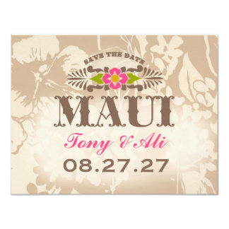 MAUI Save The Date Linen Card