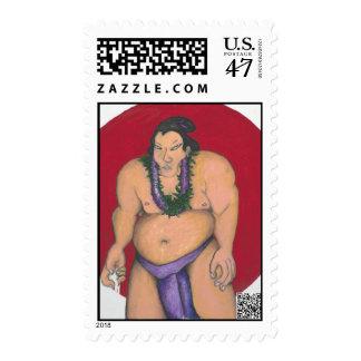 Maui Sumo postage stamp
