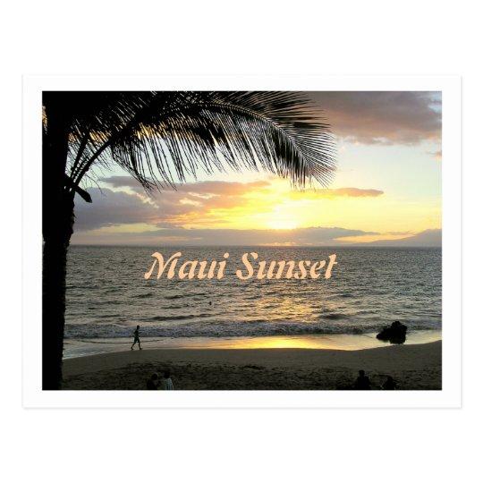 Maui Sunset, Beach Walker Postcard