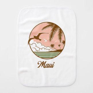 Maui Sunset Bird Burp Cloth