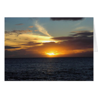 Maui Sunset Card