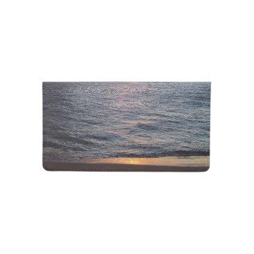 Beach Themed Maui Sunset Checkbook Cover