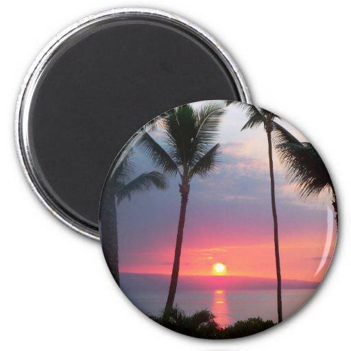 Maui Sunset!.JPG 2 Inch Round Magnet