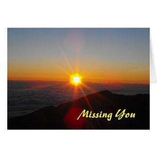 Maui Sunset, Missing You Card