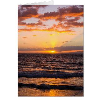 Maui Sunset Notecard