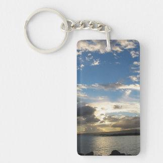 Maui Sunset Single-Sided Rectangular Acrylic Keychain