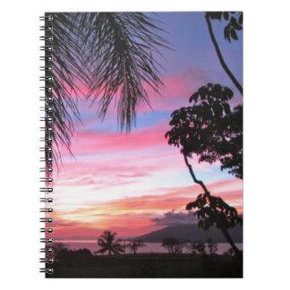 Maui sunset spiral notebook