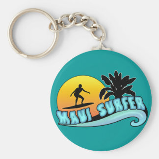 Maui Surfer Keychain