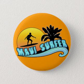 Maui Surfer Pinback Button