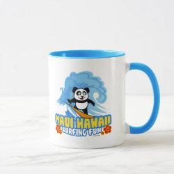 Combo Mug with Maui Surfing Panda design