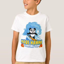 Kids' Hanes TAGLESS® T-Shirt with Maui Surfing Panda design