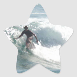 Maui Surfs Up Bro Star Sticker