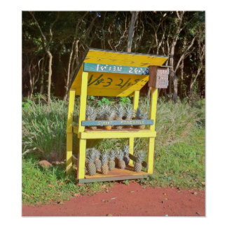 Maui Sweet Pineapple Stand Poster