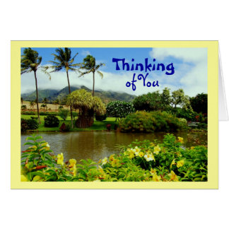 Maui Tropical Gardens, Thinking of You Greeting Card