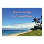 "Maui Tropical Party Invitation 5"" X 7"" Invitation Card"