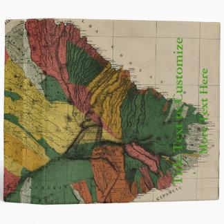 Maui - Vintage Antiquarian Hawaii Survey Map, 1885 3 Ring Binder