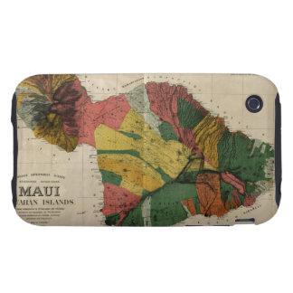 Maui - Vintage Antiquarian Hawaii Survey Map, 1885 iPhone 3 Tough Cover