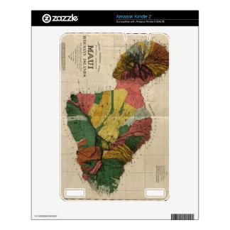 Maui - Vintage Antiquarian Hawaii Survey Map, 1885 Kindle Skins