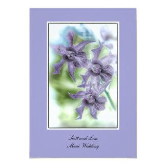 Maui Wedding Orchid 5x7 Invitations