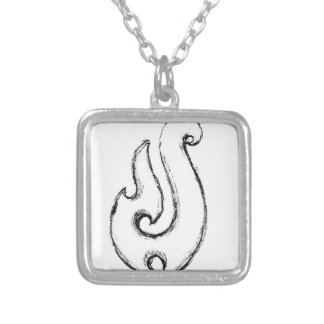 Mauis hook silver plated necklace