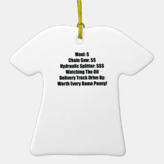 Maul Chainsaw Hydraulic Splitter Watching The Oil Double-Sided T-Shirt Ceramic Christmas Ornament